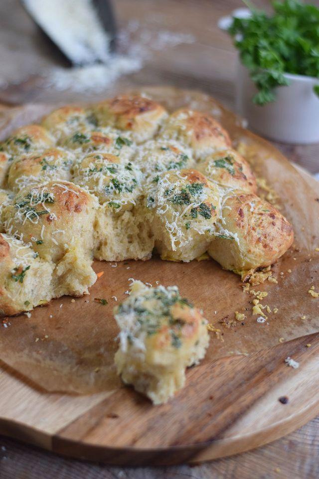 Brötchensonne mit Lauch und Parmesan & Ofenmöhren-Lauch-Parmesan-Suppe