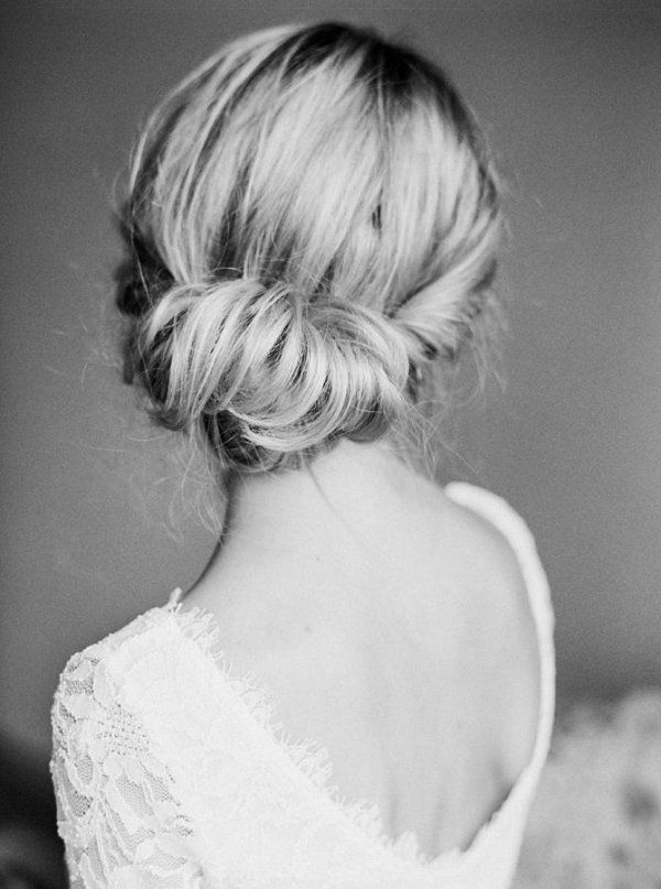 Twisted bridal updo hairstyle