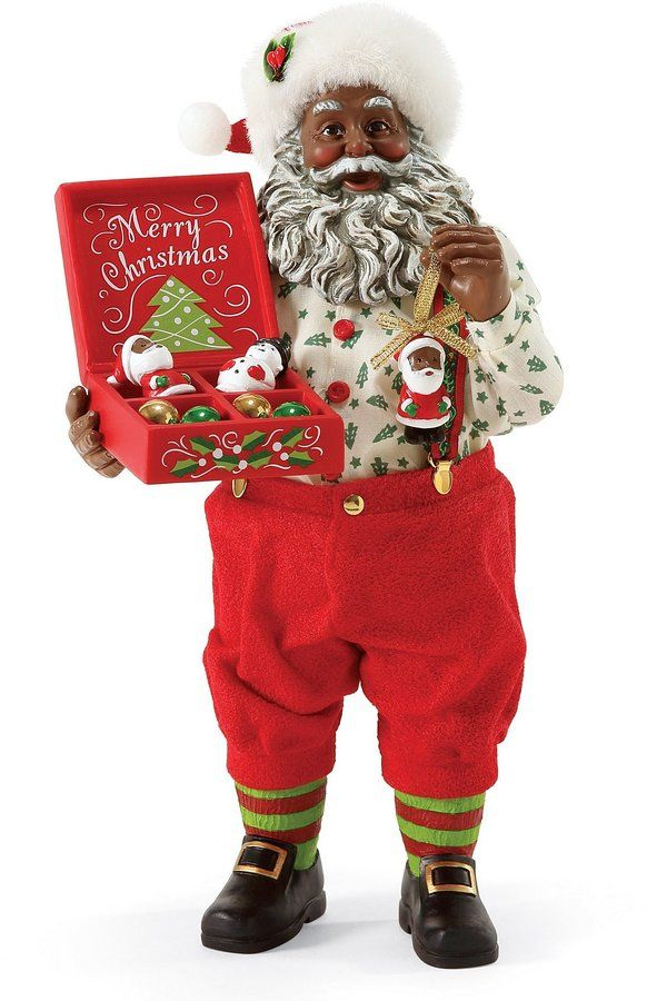 Possible Dreams Christmas Traditions Deck the Tree African American Santa Figurine-Afflink