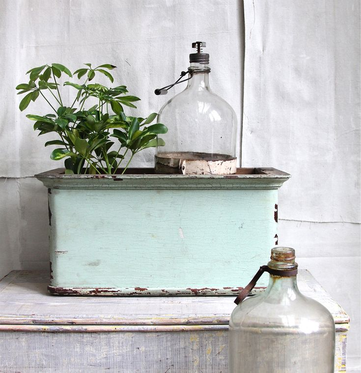 love the light colors - teal, white, and a burst of green: Vintage Bottles, Details, Color, Green, Glass Bottles, Products, Primitive, Photo