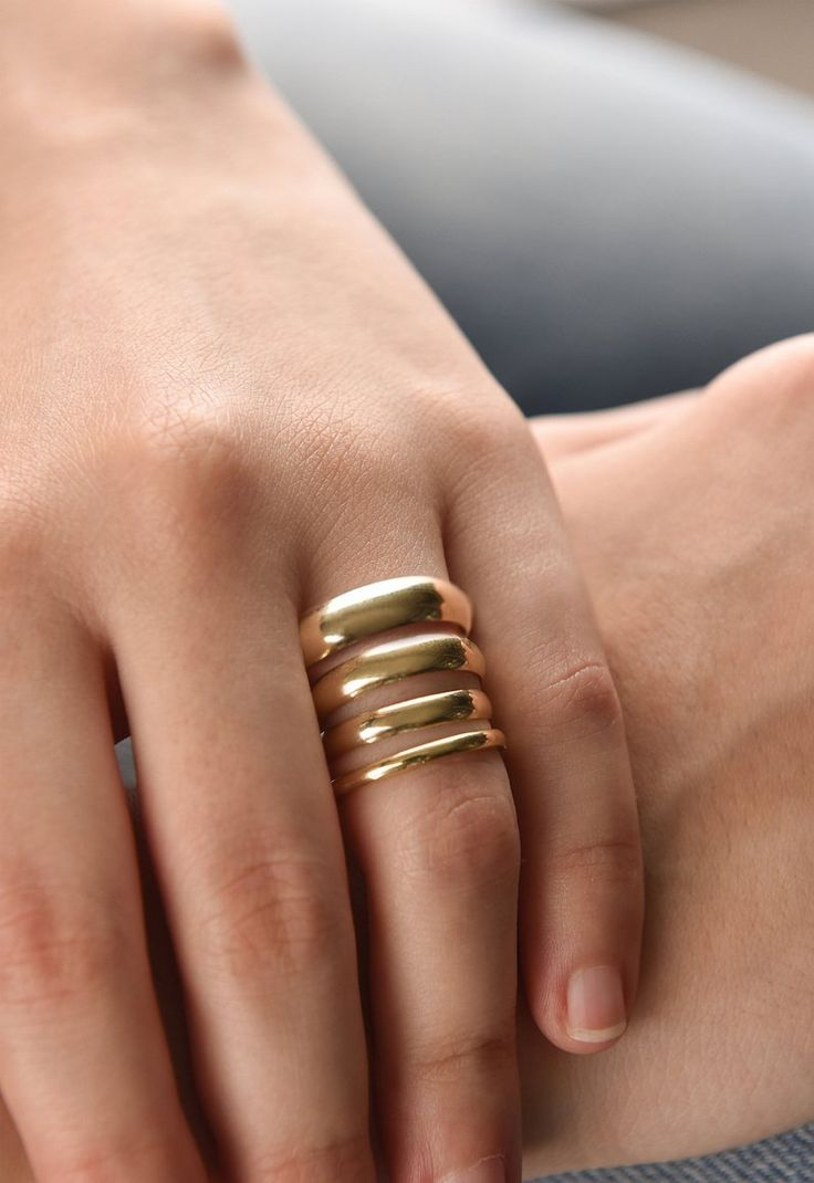 14k Solid Yellow Gold Band 4 Mm Classic Wedding Band Rounded Etsy Plain Wedding Band Gold Wedding Band Yellow Gold Wedding Band