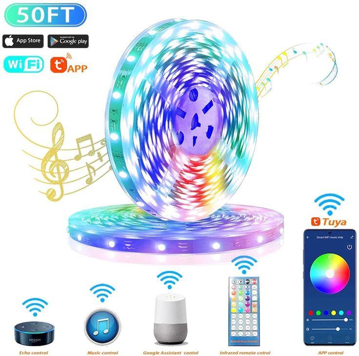 LED Strip LightMusic Sync Light Compatible with Alexa