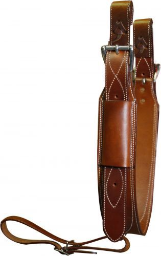 Premium Quality Chestnut Leather Back Cinch