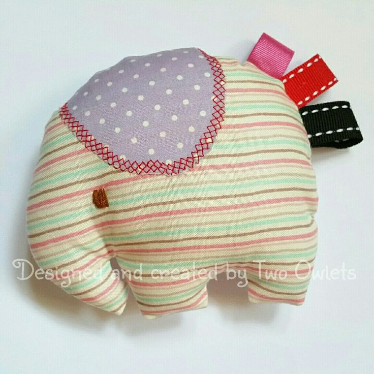 Little rattle elephant soft toy with taggies