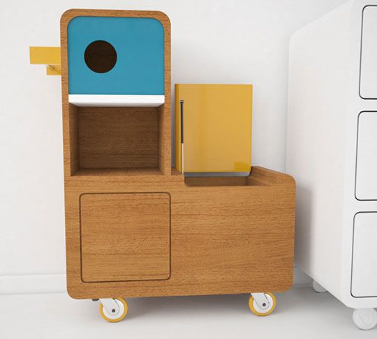 """Quackie"" toy storage."