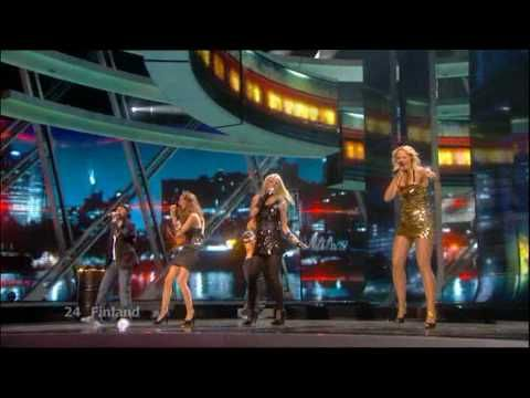 Eurovision 2009 Final 24 Finland *Waldo's People* *Lose Control* 16:9 HQ - YouTube