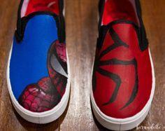 Zapatos Converse de hombre araña Spider-Man por ShopWildRose