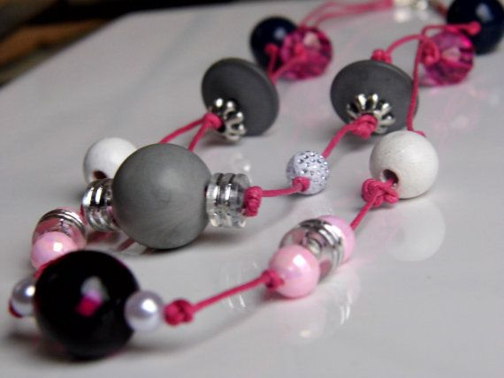 Unique artsy colorful beads multi strand by tanyasjuwerlly on Etsy
