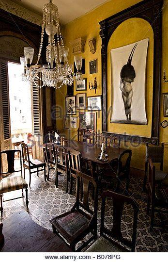 Private restaurant. Paladar La Guarida. Centro Habana. Centre Havana. Cuba. - Stock Image
