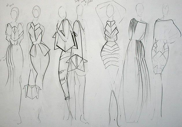 bosquejo del diseño de moda