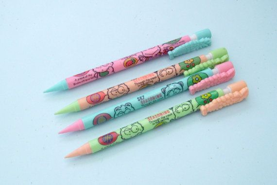 Kawaii Lead Pencil. Grape Mascot Pencil. Pink Peach by JirjiMirji, €4.90