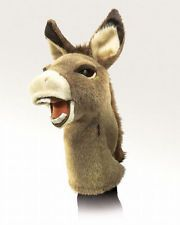 """16"""" DONKEY STAGE PUPPET # 2908 ~ FREE SHIPPING  in USA ~ Folkmanis Puppets"""