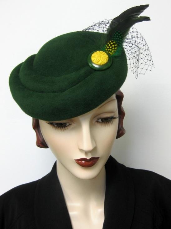 Image result for toque hat 1940
