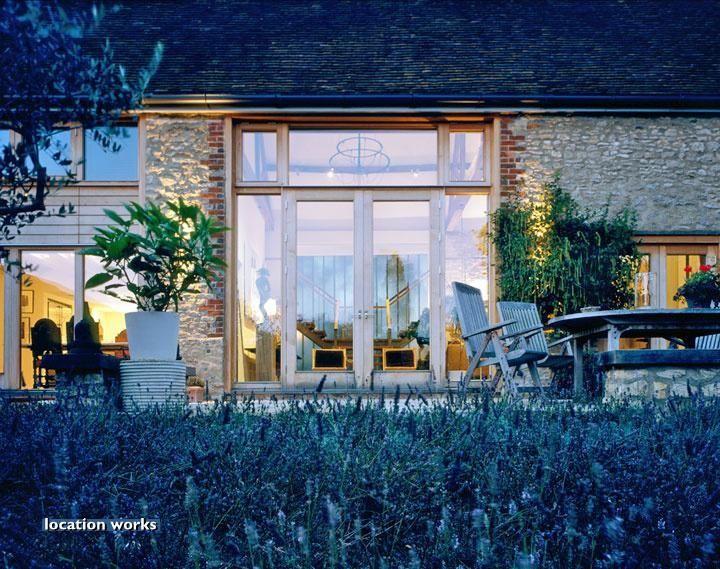 Barn contemporary garden design
