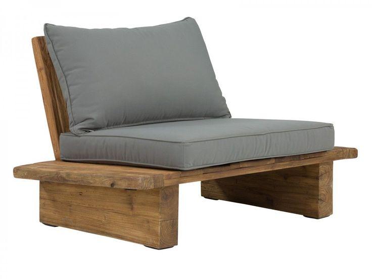 Unique Gartenm bel Sessel massiv Teak Holz M bel Lounger Gartensessel Stuhl Elima eBay