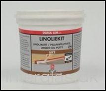 Linoliekit 682 er en højkvalitetskit i glarmesterkvalitet, fremstillet på basis af ren linolie og udsøgte kridtsorter.  Anvendes til kitning af vinduer, reparation af kitfals og til spartling af grundet træværk, såvel inde som ude. Kan også bruges til udspartling af sømhuller.