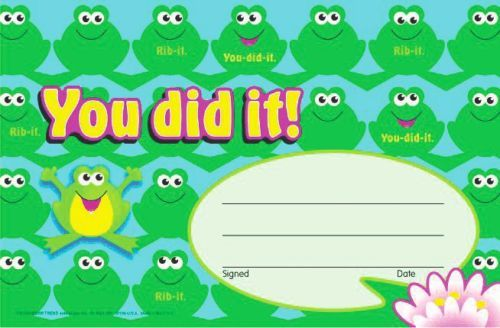 YOU DID IT !!! AWARDS (Pack of 30) Simple recognition of effort - - FREE POST