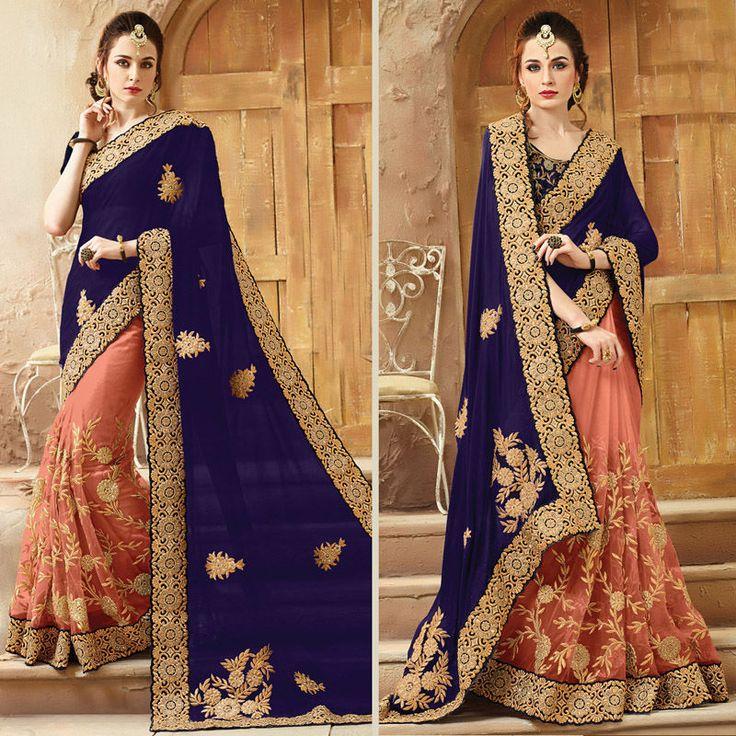 Indian Designer Bollywood Wedding Party Wear Pakistani Heavy Bridal Sari Blouse #Shoppingover #Saree