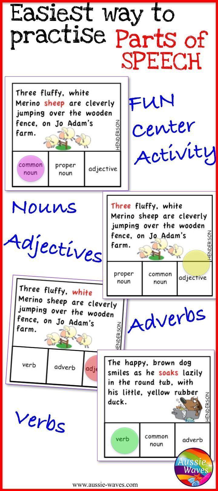 Best 10 Parts Of Speech Activities Ideas On Pinterest