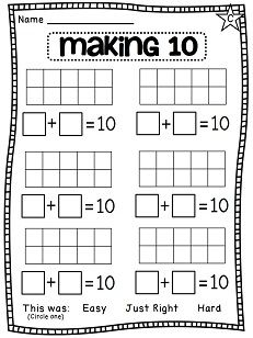 Making 10 worksheets and activities!! Kids use 2 colors to fill up a 10 frame in as many different ways as they can!