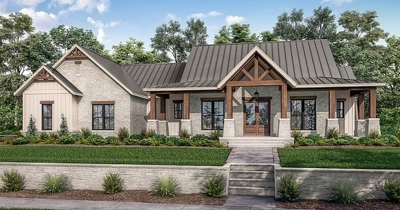 Ad House Plans S Instagram Photo Have You Seen Our Stunning New 𝐌𝐨𝐝𝐞𝐫𝐧 𝐂𝐨𝐮 In 2020 Modern Farmhouse Plans Farmhouse Style House Farmhouse Style House Plans
