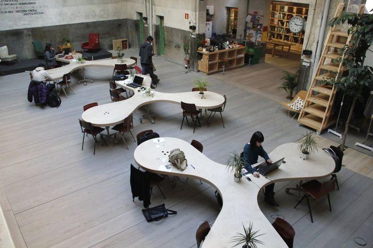 An open plan office space