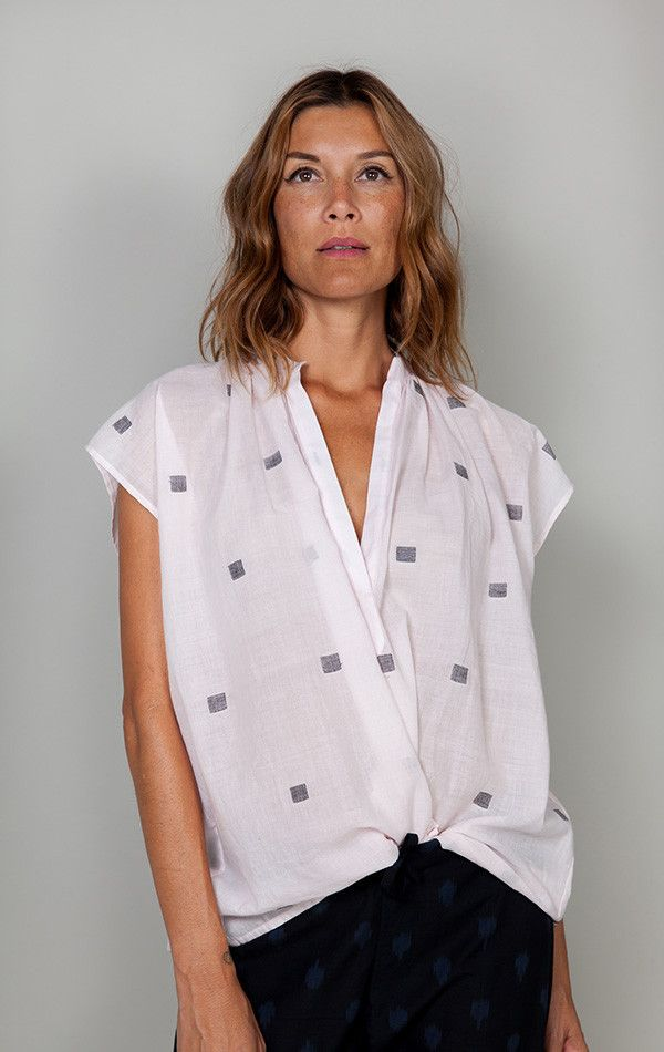 Two Khadi shirt with Handwoven squares