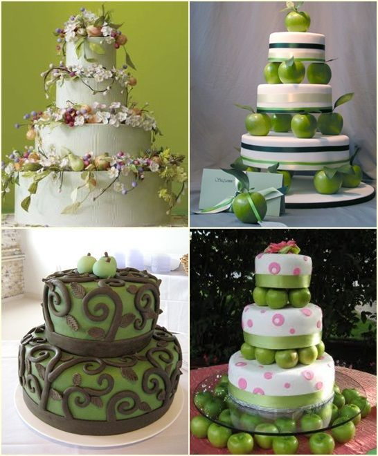 Ideas Innovation Ideas Layer Cakes Green Apples Cake Stands