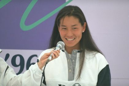 Kimiko Date-Krumm - Kimiko shows her natural beauty in this 1996 photo, shortly before she retired from women's tennis. Kimiko came out of retirement in 2008 as a 37 year old seasoned pro. Kimiko's comeback at that age is simply awe-inspiring!