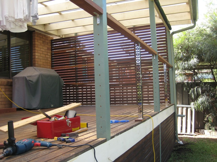 Balustrade with Stainless Steel Marine Wire - Preparing the Deck