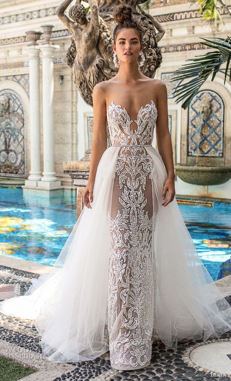 Lace jacket over wedding dress january 2019  best Wedding dresses  images on Pinterest  Gown wedding