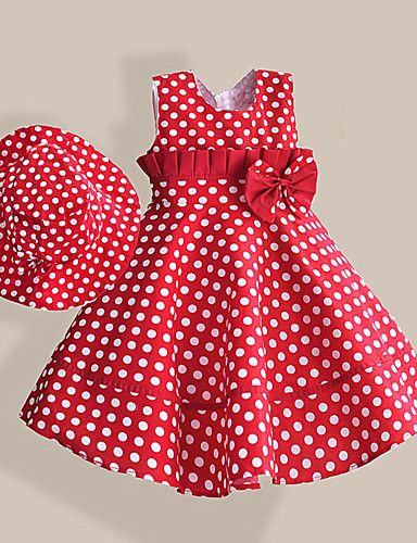 Have you noticed that polka dot looks way better on little kids? Imagine your little princess in this cute summer red- white polka dot dress?! Get it at $18.99