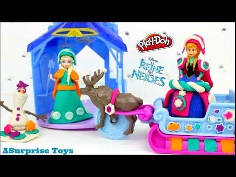 la reine des neiges pate a modeler playdoh aventure en traineau play doh watches