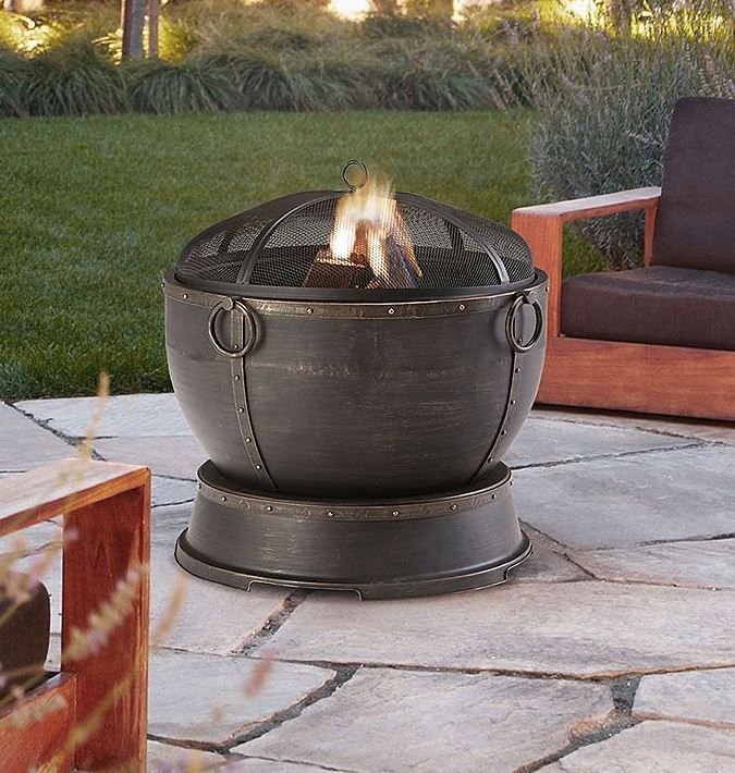 Outdoor Fire Pit Patio Fireplace Bronze Deep Bowl Firepit Wood Burning Heater Pleasanthearth Outdoor Fire Pit Patio Outdoor Fire Pit Fire Pit