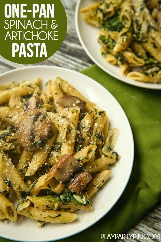 This easy one-pan spinach artichoke pasta recipe looks yummy and delicious! Definitely one to add to my easy pasta recipes list! A great vegetarian recipe too!