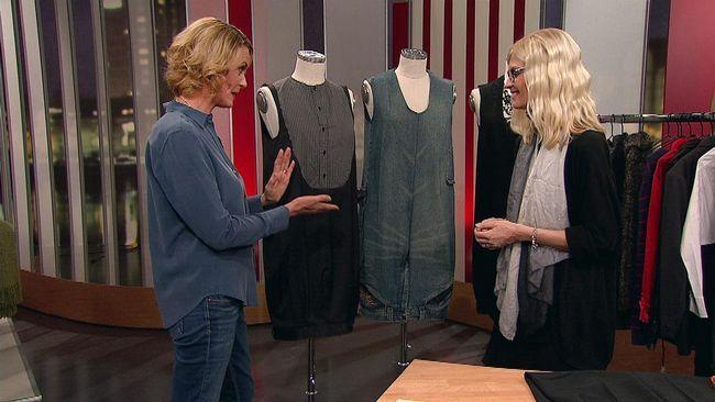 Allt går att återanvända. Designern Marie Teike visar nåt så galet som att sy om byxor till klänningar.