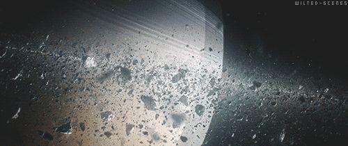Así luce un anillo de Saturno de cerca. #gif