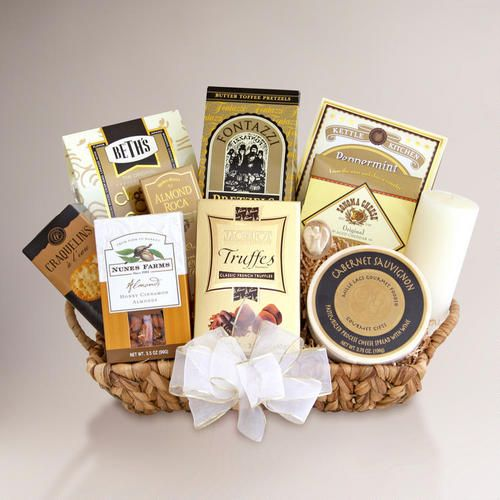 One of my favorite discoveries at WorldMarket.com: Memories Shared Sympathy Gift Basket