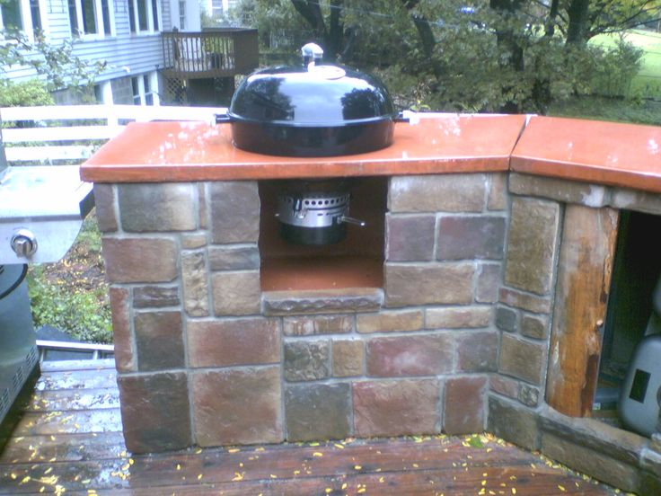 mounting a weber charcoal kettle in a counter bbq source forums grill outdoor pinterest. Black Bedroom Furniture Sets. Home Design Ideas