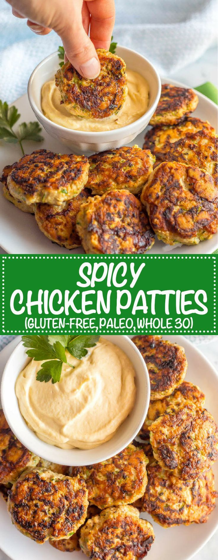 Spicy chicken patties are a really simple, easy recipe and can be used for wraps, salads, sliders, with a sauce or alongside some eggs with breakfast. Paleo, gluten-free and whole 30-approved, these patties will become a new favorite! #whole30recipes #paleorecipes #healthychickenrecipes #simplechickenrecipes   www.familyfoodonthetable.com
