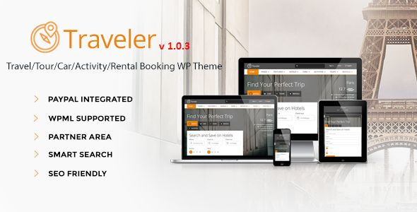 Traveler - Travel/Tour/Booking WordPress Theme