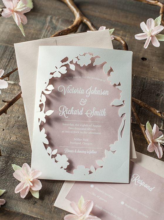 桜をモチーフにした上品な招待状❤︎参考にしたい春の結婚式の招待状一覧♪