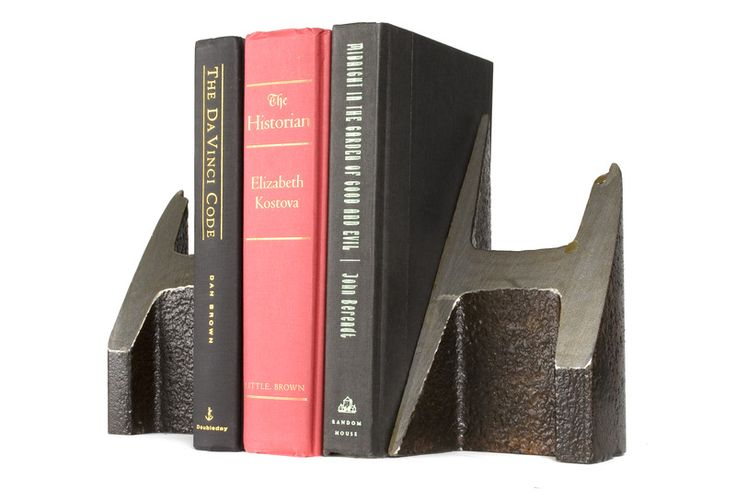 Rescued rails used as bookends.  These are sweet.