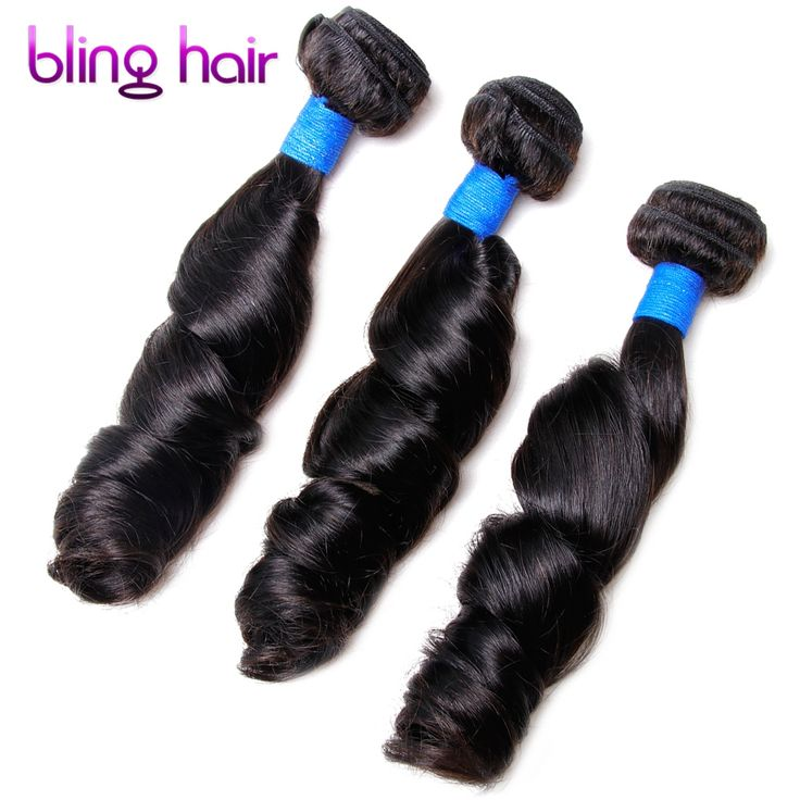 Bling Hair Peruvian Loose Wave 3 Bundles Nature Black Remy Human Hair For Salon Hair Extention Low Ratio Longest Hair PCT 15%