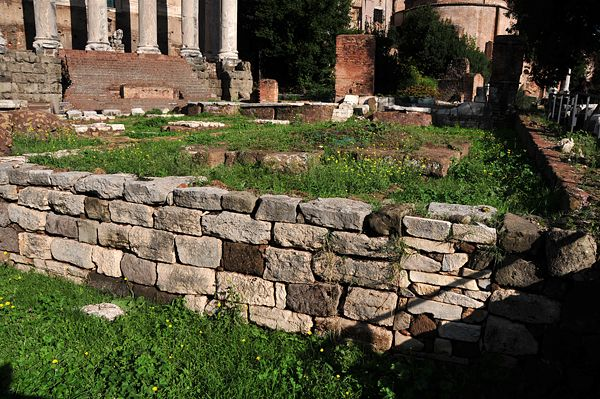 The Regia's Ruins... originally the home of the Kings of Rome, a low pentagonal building