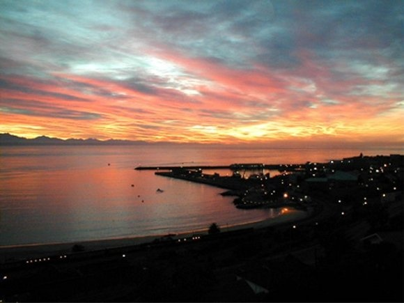 Beautiful sunset over Mossel Bay <3