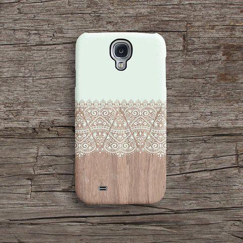 Mint lace wood Samsung S5 case, Samsung S4 case S633 – Decouart