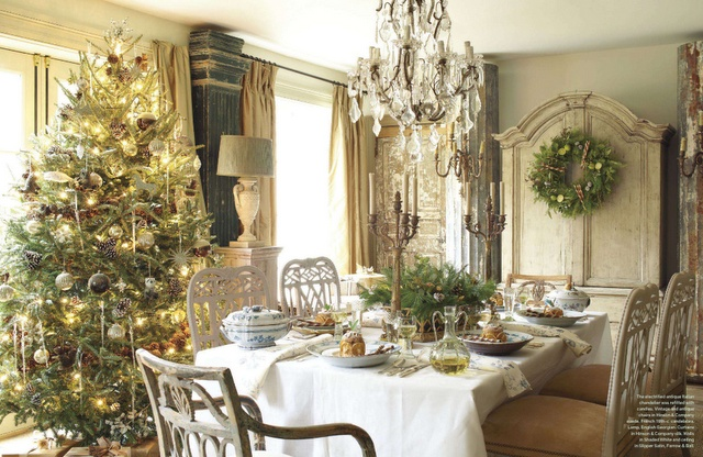 Stunning veranda dec 2012 christmas pinterest verandas christmas dining rooms and - Veranda dining rooms ...