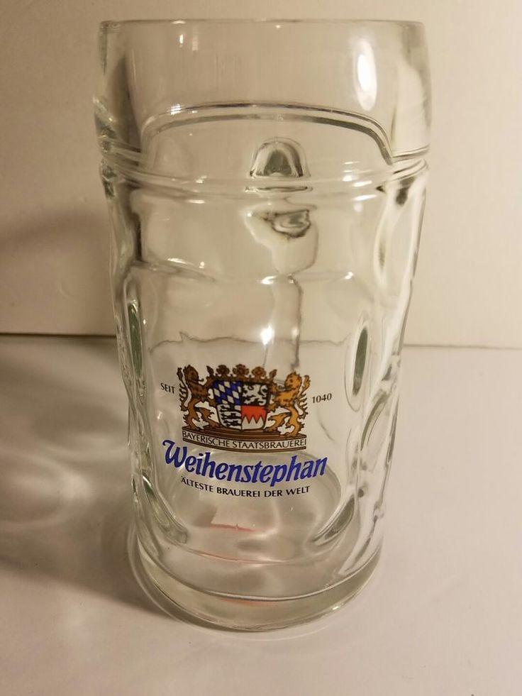Weihenstephan - German Beer Glass 1.0 Liter Stein - Masskrug - Oktoberfest - NEW