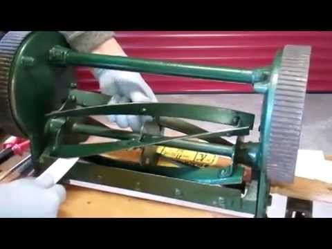 How to Sharpen  Lawnmower Blades. early English Qualcast mower.